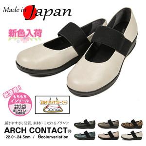 44703d633cdac 日本製 ARCH CONTACT 幅広 カジュアル レディース パンプス 黒 歩きやすい 痛くない 脱げない ローヒール ストラップ コンフォート  アーチコンタクト 49501